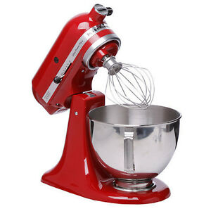 Image Is Loading New KitchenAid Stand Mixer KSM100PSER Empire Red 4