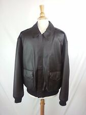 Air Force Airborne Leathers Brown Leather Flight Bomber Jacket Men's Sz L Large