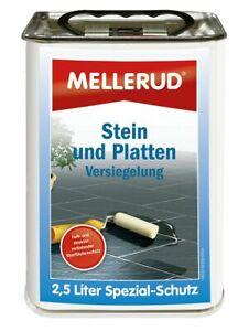 €10/L Sparset MELLERUD 2,5L Stein Versiegelung Langzeitschutz Schiefer Marmor