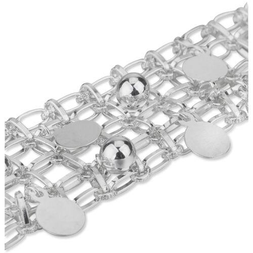 Silver Metal Chain /& Choker Mesh Plate Discs /& Balls Jewellery Making Trimming