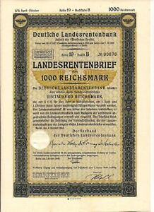 German-Prussian-State-Mortgage-1000-Reichsmarks-Bond-10-1944-Third-Reich-eagle