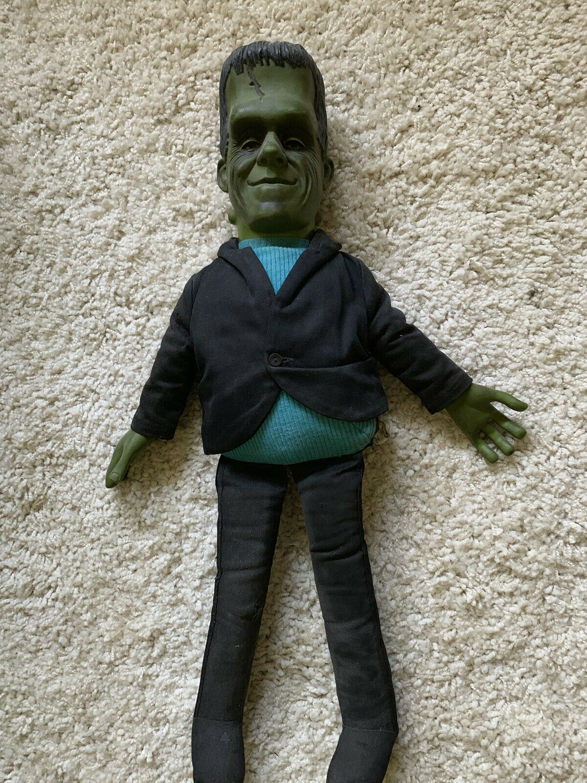 1964 HERMAN MUNSTER TALKING DOLL GREAT CONDITION