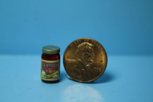 Dollhouse Miniature Replica Jar of Classico Vodka Sauce ~ HR54302
