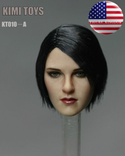 "1//6 Female Head Sculpt KIMI KT010A For 12/"" TBLeague PHICEN HotToys Female Figure"