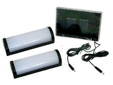 2 x 5 LED SOLAR POWERED GARDEN SHED GARAGE STABLE RECHARGEABLE LIGHTS SL1SHED