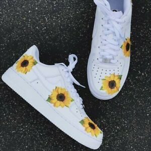 Details about Custom sunflower air force ones/ Women's Sizes