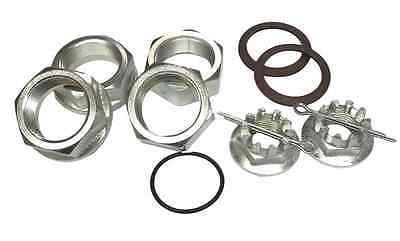 2 REAR AXLE WHEEL HUB w//NUT FOR Honda TRX300 TRX300FW FOURTRAX 300 2X4 4X4 88-92