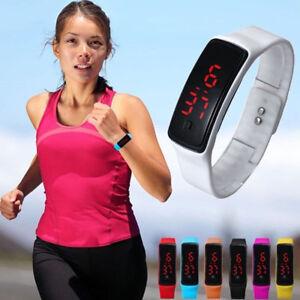 Digital-LED-Reloj-deportivo-unisex-silicona-banda-pulsera-hombre-de-mujer-bonito