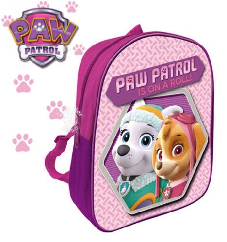NICKELODEON PAW PATROL SKY Kids Pink Purple Backpack School Bag  28x22.5x7cm