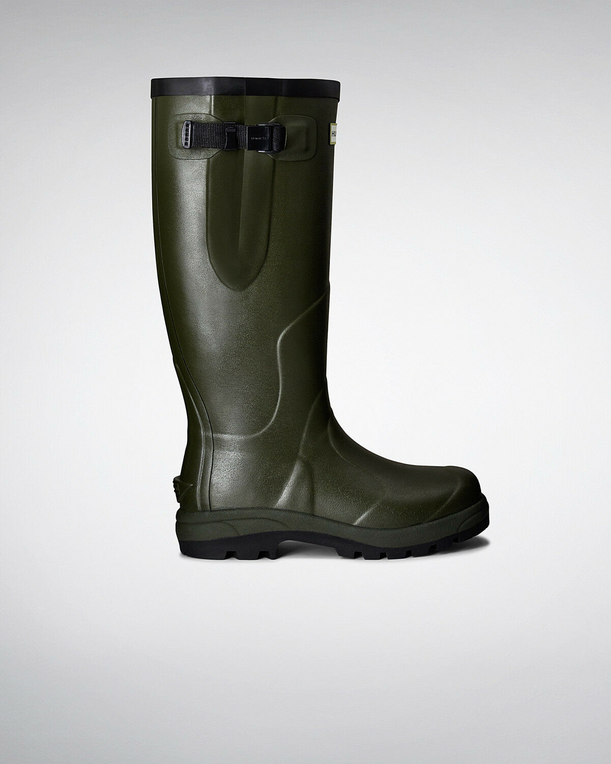 Hunter Wellington Stiefel Wellies Welly Balmoral Classic Olive Größe UK 12 Eu 47