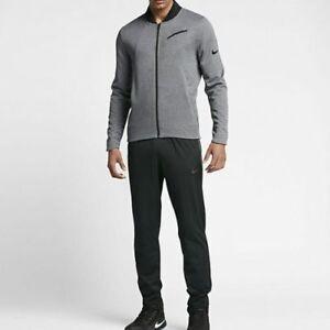 Men-039-s-SZ-L-Dri-Fit-Nike-Hyper-Elite-Basketball-Jacket-Gray-830833-NWT-125