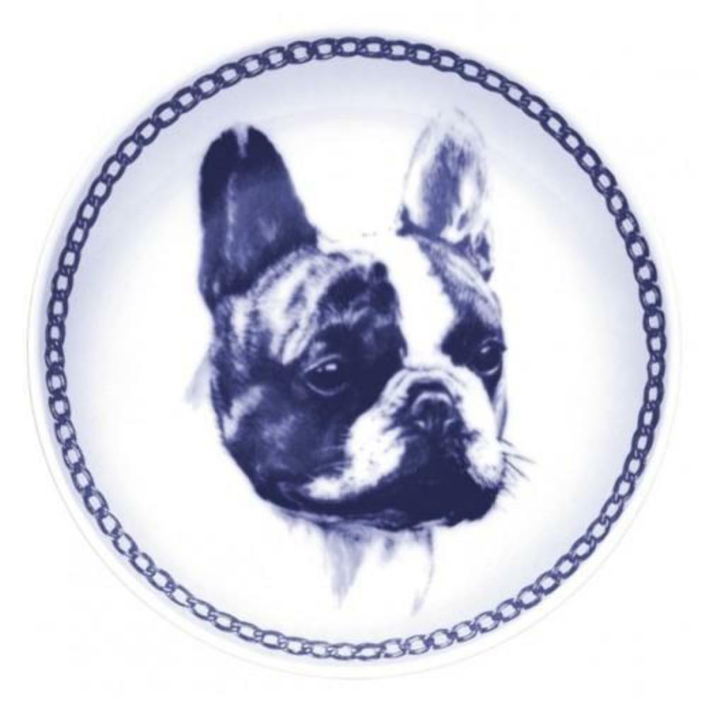 French Bulldog  Dog Plate made in Denmark from the finest European Porcelain