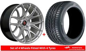 Alloy-Wheels-amp-Tyres-8-5x18-Axe-CS-Lite-Silver-2454518-Nankang-AS1