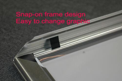 "A1 LED Aluminum Frame Light Box 36/""x 26/"" Poster Backlit Display LightBox Sign"