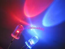 50pcs, 5mm Red / Blue Bi-Color Flash Self Flashing Water Clear Bright LED Leds