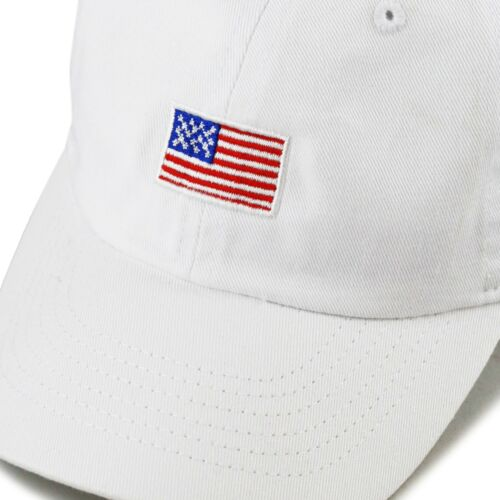 Kids Embroidered American Flag Washed Cotton Baseball Cap