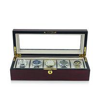 Luxury wooden watch box matt Bubinga storage case wristwatch display holder