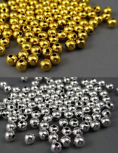 2//5 x Filigrane Messing-Perlen 7,5 mm Ø Loch 3 mm in Gold-Farben