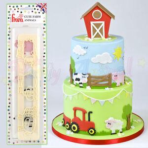 FMM-Sugarcraft-Cute-Farm-Animals-Cutters-Cake-decoration-sugarpaste-fondant
