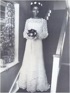 Crochet Wedding Dress Pattern.Details About Ladies 4 Ply Wedding Dress Crochet Pattern 10194