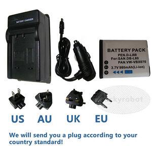Battery-DB-L80-DBL80-charger-for-Sanyo-Xacti-VPC-X1220-X1420-DB-L80A-DBL80A