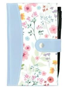 Slim-Pastel-Bloom-Faux-Leather-Notebook-amp-Pen-Ideal-for-Travel-Home-amp-Office