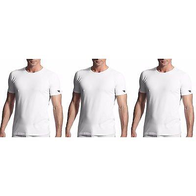 3 t-shirt uomo mezza manica puro cotone girocollo DIADORA underwear art. 6067