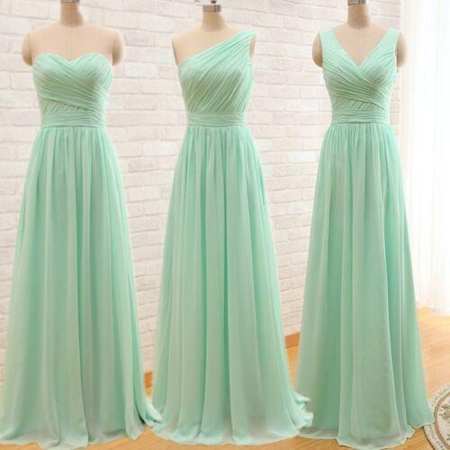 2017 Cheap Long Bridesmaid Dresses Mint Green Coral Grey Royal Blue Real Image