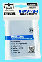 100 Ultimate Guard Classic Soft Japanese Card Sleeves Small Size Clear Yugioh