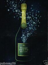 Publicité advertising 2010 Le Champagne Deutz