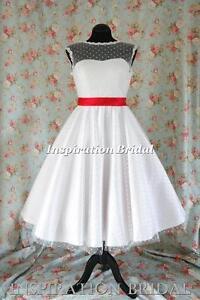 Uk-1364-short-wedding-dress-tea-length-knee-polka-dot-short-50s-60s-retro-sash