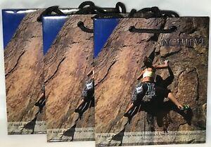 Details About Set Of 3 Inspirational Motivational Gift Bags W Handles Achieve Rock Climbing