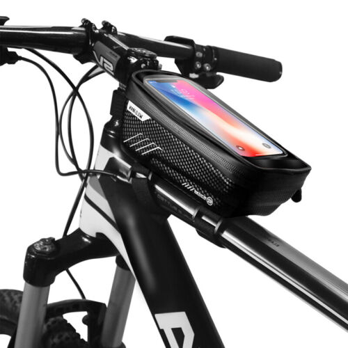 MTB Bike Front Top Tube Frame Bag Bicycle Cycling Waterproof Phone Holder Case