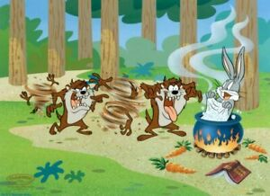 Warner-Brothers-Bugs-Bunny-Taz-You-Dirty-Devil-Limited-Edition-Cel