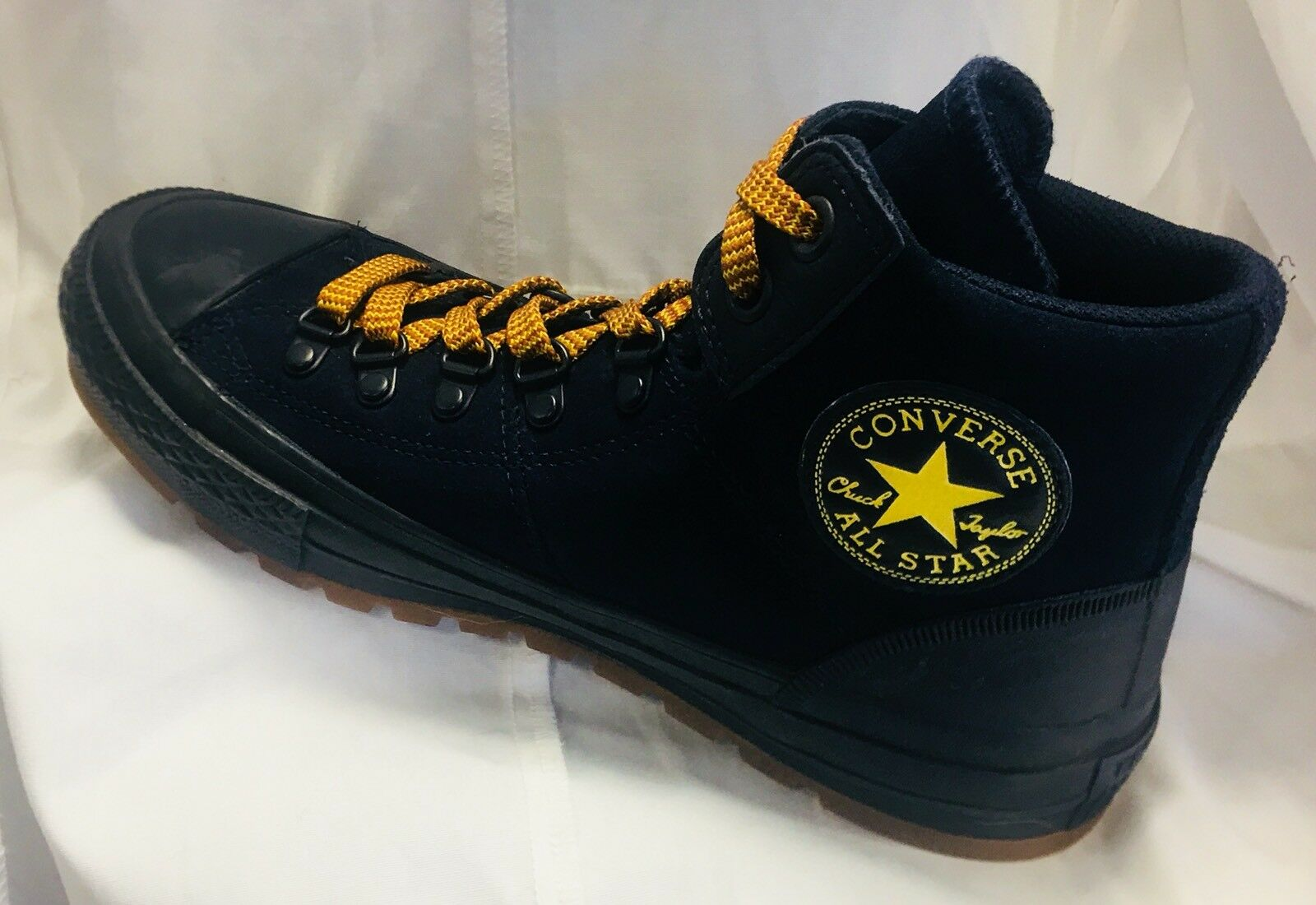 Converse all star Navy chuck taylor Sneaker Schuhes Navy star Suede Yellow Laces Größe 6 2c4b52