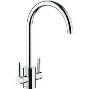 Ex-Display-Virgo-Dual-Handle-Monobloc-Kitchen-Mixer-Tap-Chrome-No-Aerator
