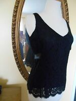 Gorgeous Odille 10 Black Lace Top Anthropologie Top Blouse $118
