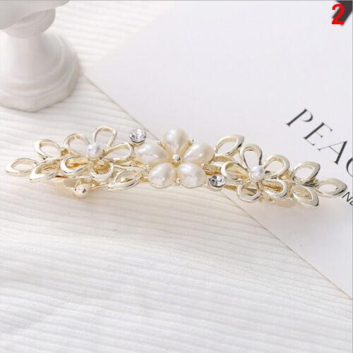 Pearl Barrettes Women Hair Clip Cute Crystal Hair Hairpin Headwear Gift Girls
