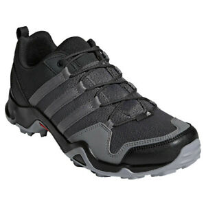 New Adidas Men's Gym Terrex AX2R Hiking Shoes Grey Black SZ 8 8.5 ...