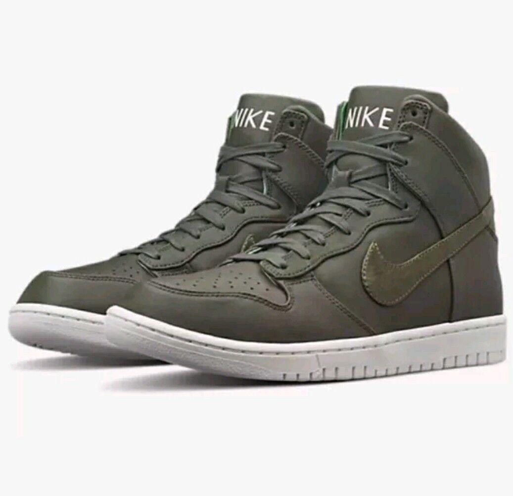 Nike Dunk LUX Sequoia 718790 330 Men's SIZE 13 LEATHER PREMIUM QZ PRO AF1