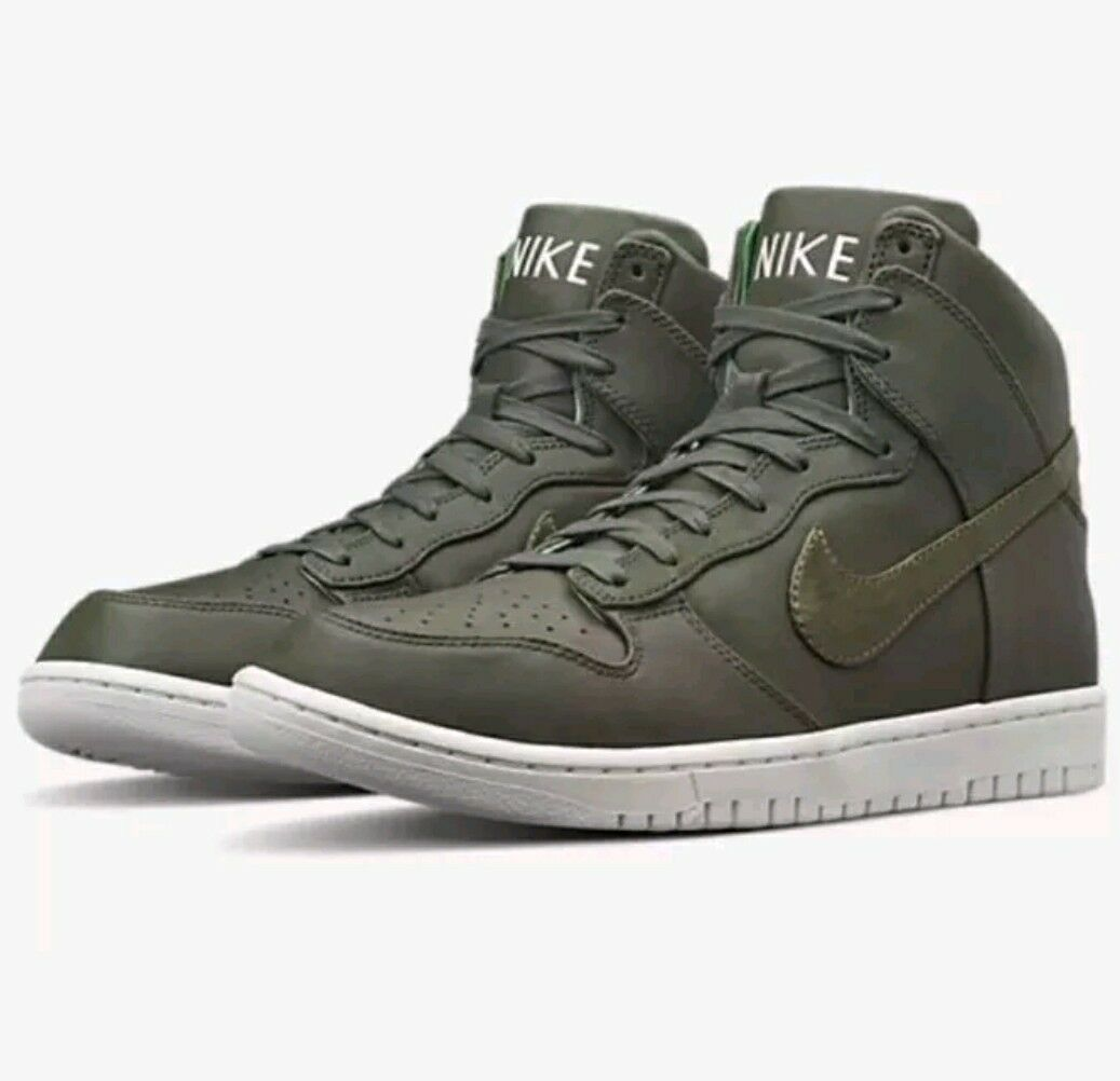 Nike Dunk LUX Sequoia 718790 330 Men's SIZE 13 LEATHER LEATHER LEATHER PREMIUM QZ PRO AF1 a43c14