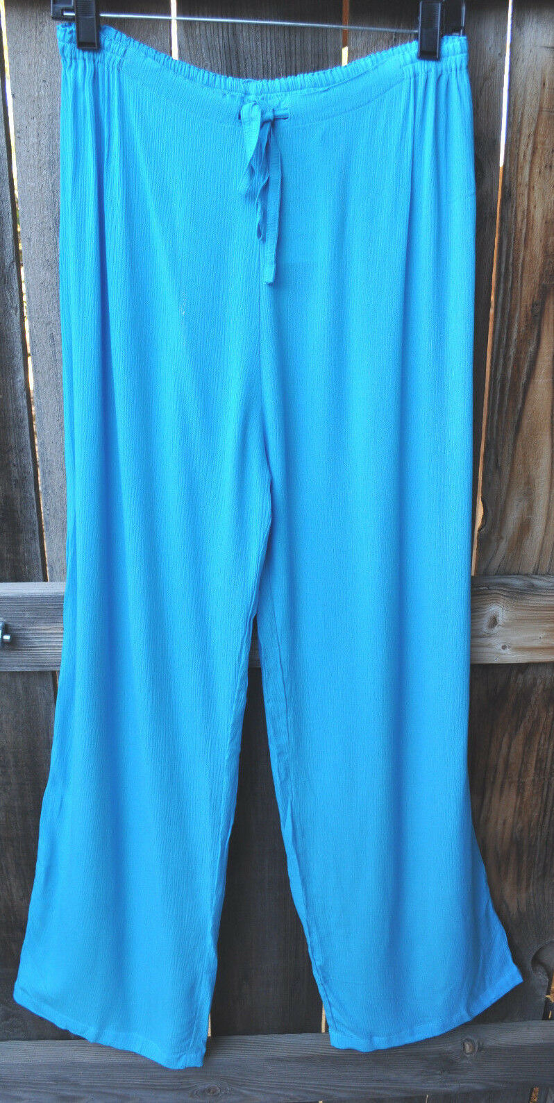 ART TO WEAR 4 PANT IN CLASSIC SOLID TURQUOISE BY MISSION CANYON,ONE SIZE, NWT ,
