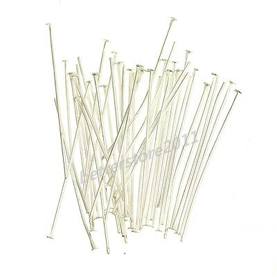100pcs Silver Golden Head/Eye/Ball Pins Finding 21 Gauge any size to choose NEW
