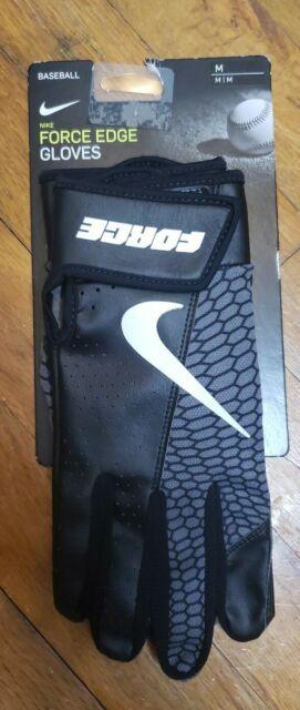 Nike Force Edge Batting Gloves Game Black/White Men's Medium New