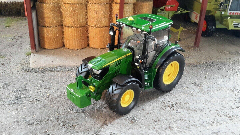 Wiking échelle 1 32 John Deere Modèle 6125R tracteur avec poids (En parfait état, dans sa boîte)