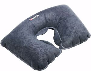 Grey Car Home Plane Travel TV Read Inflatable Soft Neck Support Cushion U Pillow