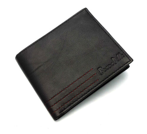MENS DESIGNER BUONO PELLE QUALITY REAL LEATHER WALLET CREDIT CARD HOLDER PURSE