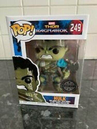 Funko Pop Vinilo Figura Marvel Thor Ragnarok HULK con hacha 249 Exclusivo