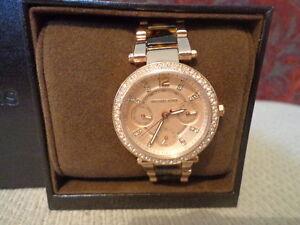 e1ad549ee365 Michael Kors Women s Chronograph Mini Parker Tortoise Rose-Gold ...