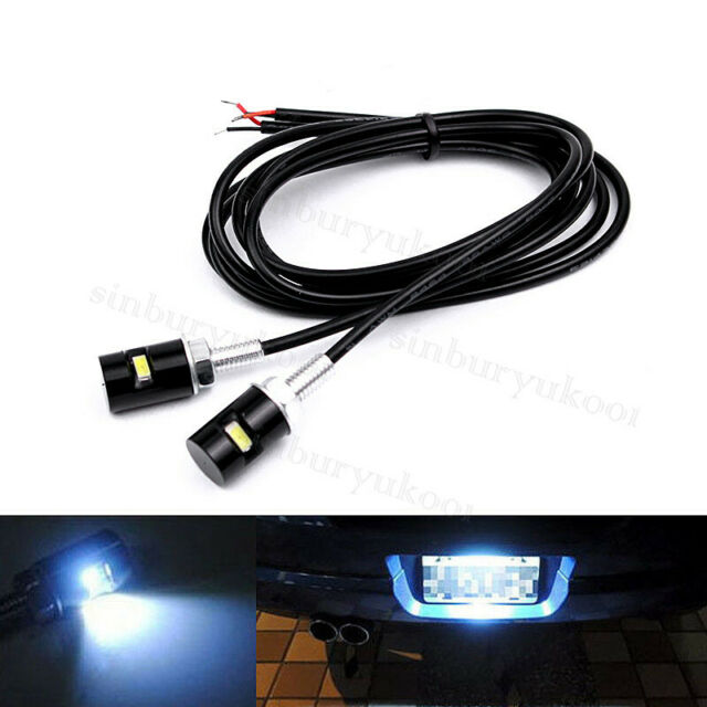 Universal 12V LED License Number Plate Light Car Van Truck Trailer 6000K White